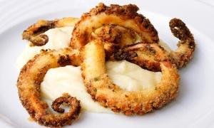 polpo croccante su crema di patate bellambrianalecce